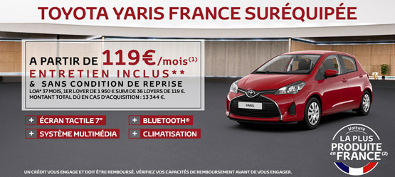 Offres v hicules neufs toyota garages chaigneau for Garage citroen mendes france niort